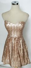 NWT WINDSOR $90 Bronze Cocktail Club Prom Party Dress 9
