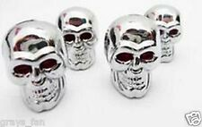 Skull dust caps Chrome effect Tyre valve caps  Motorbike BMX CAR  KTM moto x?