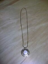Vintage Caravelle Necklace Watch Pendant Gold tone Wind Up  Works Great