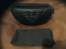 NEW EMPORIO ARMANI UNISEX GLASSES SUNGLASSES CASE & CLEANING CLOTH