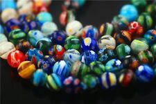 40Pcs Mixed Round Millefiori Glass Beads DIY Bracelet Jewelry Finding 6mm