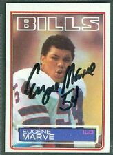 Eugene Marve Football Auto 1983 Topps '83 Signature Autograph Signed Card #227