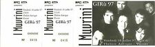 RARE / TICKET BILLET CONCERT LIVE - I MUVRINI ( FRANCE CORSE ) 1997 / COMME NEUF