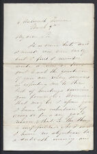 Robert Moffat African Missionary Signed Letter 1840 to Rev John Arundell