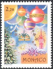 Monaco 1985 christmas/voeux/arbre/décorations/boules 1v (n43741)