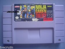 SUPER NINTENDO SNES NINJA GAIDEN TRILOGY AUTHENTIC ORIGINAL GAME TESTED WORKS