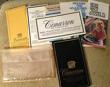 1982 Cadillac Cimarron Owner's Manual Mint Condition, Pouch & more Free Shipping