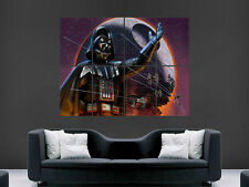 STAR WARS DARTH VADER DEATH STAR TIE FIGHTER ART WALL LARGE IMAGE GIANT POSTER