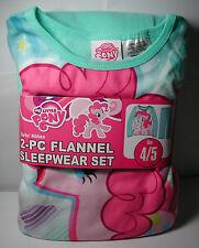 Brand New Girls MY LITTLE PONY 2 piece Flannel Pajamas Sleepwear Set Size 4/5