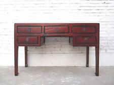 China kolonialer Schreibtisch Desk Schubladen Antikbraun Vintage Pinie