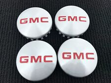 NEW SET OF 4 GMC 2014 - 2017 YUKON SIERRA 1500 BRUSHED ALUMINUM WHEEL HUB CAPS