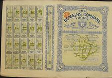 London Domains Company Limited alte Aktie 1905 dekorativ
