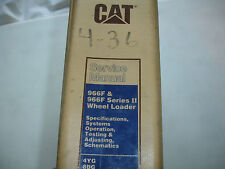 CATerpillar Factory 966F & Series II Wheel Loader Shop Service Repair Manual OEM