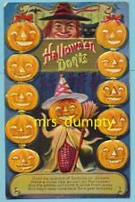 HALLOWEEN Don'ts~Witch & Cat With Jack O' Lantern Corn Cob Man~Lions Head PC