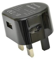 Mercury 421.755 Mains Powered USB Charger 2400mA Port For Mobile Devices - Black