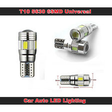 2x BOMBILLA T10 501 W5W 6SMD Car LED Blanco Puro Lámpara Para Coche Parking Lamp