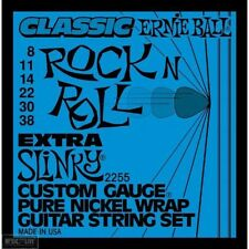 5 Pack! Ernie Ball 2255 Extra Slinky Pure Nickel Guitar Strings Free Ship U.S.