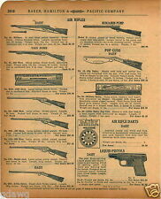 1920 PAPER AD Daisy Air Rifle Military Take Down Special Pop Guns Benjamin Pump