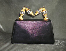 Rare Kenneth Lane for ROSENFELD Vintage Purse Handbag HOLLYWOOD REGENCY Artwor k