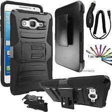 For Samsung Galaxy On5 Hybrid Rugged Holster Case Cover Stand Clip +Free Gift