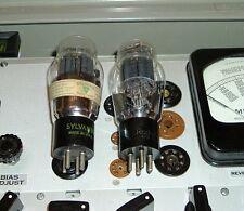 2 tubes 2A3 power triode RCA & Sylvania WE Hickok 539B test matched 3700 3600
