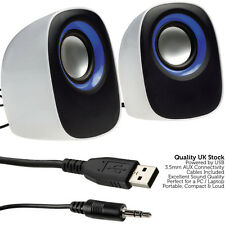QUALITY 10W PC Laptop Stereo Speaker System–Mini Multimedia Active USB Tablet 3D