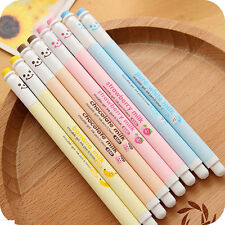 Cute Cartoon gel-ink Pen Erasable Blue Ink Ball Point Pen Office Supplies Chic