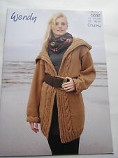 5692 Wendy Ladies long cardigan chunky knitting pattern- new- Size 28-38 inch