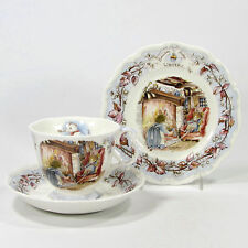Royal Doulton Brambly Hedge WINTER Afternoon Tea Plate Cup Saucer Jill Barklem