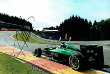 Andre LOTTERER Signed 12x8 CATERHAM F1 Spa Belgium Photo Autograph AFTAL COA