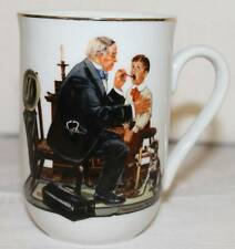 MUG CUP COFFEE TEA NORMAN ROCKWELL MUSEUM THE COUNTRY DOCTOR VINTAGE 1985 TALL