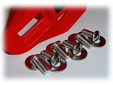 12mm Long Bicycle Shoe Cleat Attaching Bolt Set • Look Style • 6 Stainless Steel