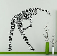 Gymnastics Girl Fitness Sport Gym Wall Decal Vinyl Sticker Decor Mural (17gy)