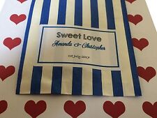 Custom Printed Wedding Favour Sweet Bags - Personalised - Candy Pick n Mix Bag