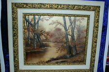 Vintage Oil Painting Of Fall Landscape By Lemon