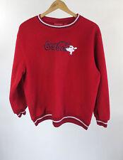 Coca-Cola Polar Bear Junior Red Long Sleeve Fleece Pullover Size L (11/13)