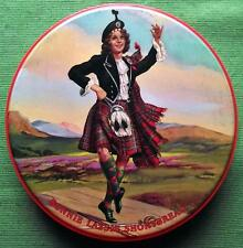 c1950 Edinburgh Middlemass & Son Shortbread Bonnie Lassie Tartan Tartanware Tin