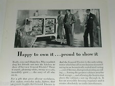 1929 GENERAL ELECTRIC advertisement, refrigerator, monitor top, 2 door fridge