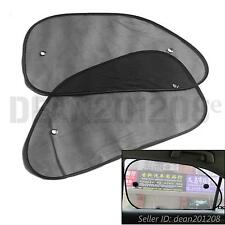64 x 38 cm 2pcs BLACK Car Sun Shade Mesh Auto Block Rear Window Visor Sunshade