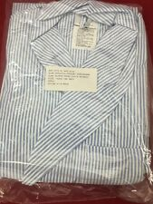 ONE NEW TRADEWINDS Dressing Robe Striped Seersucker Durable Press Large w/Tie