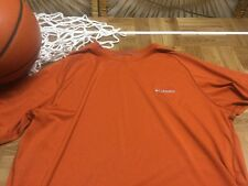 Columbia orange short sleeve shirt, like dri fit  large L c18