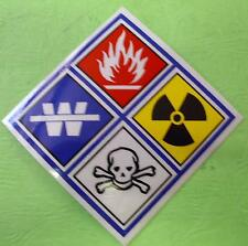 "HAZ MAT STICKER DECAL 3"" X 3"""
