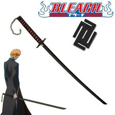 Bleach Sword ICHIGO KUROSAKI BANKAI Replica Original BLACK w/Single Sword Stand