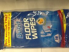 DUZZIT FLOOR WIPES FOR ALL CERAMIC AND LINOLEUM SURFACES PACK OF 18
