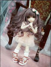 "NEW YOSD 6~7"" 15~17cm 1/6 doll Wig BB BJD Hair brown AOD DOD DL DZ"