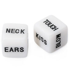 1Pair Dirty Word Dice Game Adult Bachelor Party Game Lover Valentines Day Supply