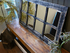 NEW RUSTIC FARMHOUSE RECLAIMED BARN WOOD WINDOW 8 PANE HOMESTEADER MIRROR DECOR