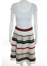 NWT ENGLISH FACTORY Multi Color Striped Pleated A Line Skirt Sz S $104