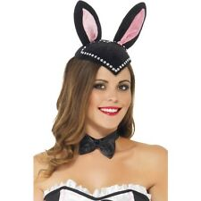 Women's Burlesque Bunny Skull Cap Hat Rabbit Fancy Dress Hen Night Theme Event