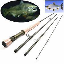 Fly Rod 9FT 8Weights 4Sections Fast Action Fly Fishing Rod For Salmon SteelHead